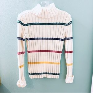 Tommy Hilfiger Knit colorblock turtle neck sweater